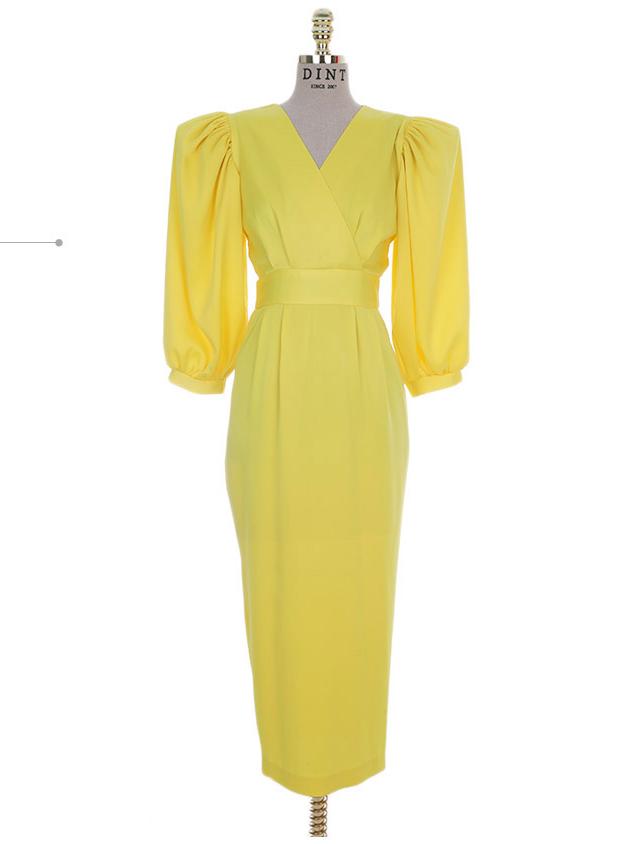 D9080 Sonia Volume Sleeve Dress