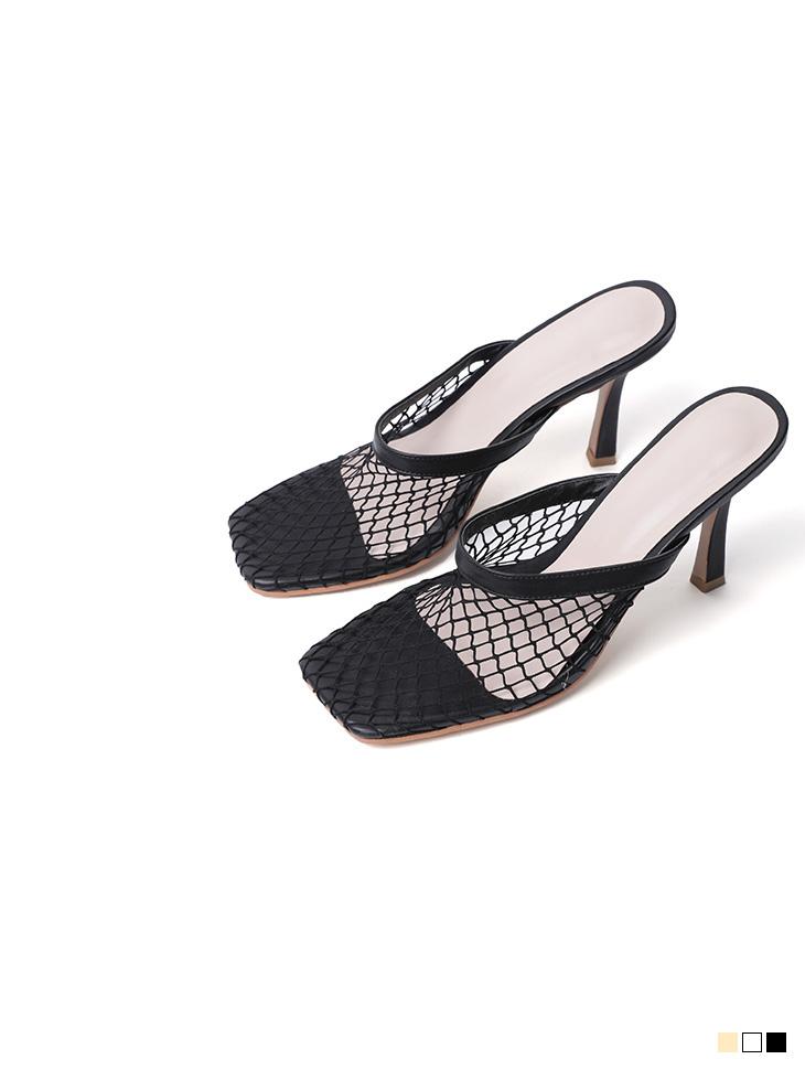 AR-2483 unique Net Point Sandal high heels