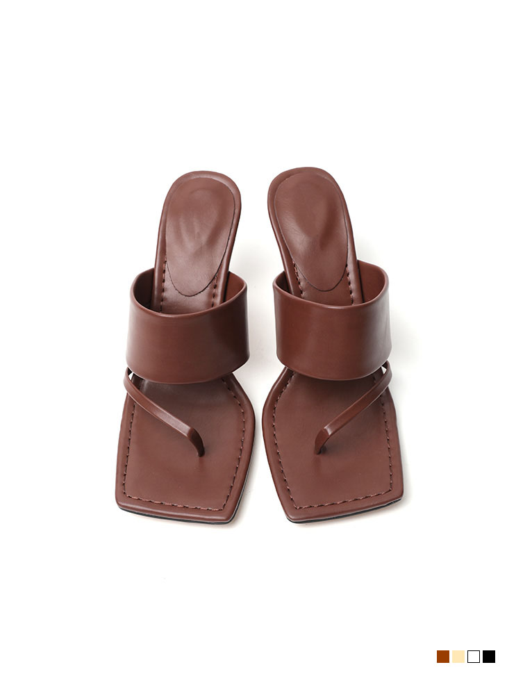 AR-2490 리만 square stitch sandals heels