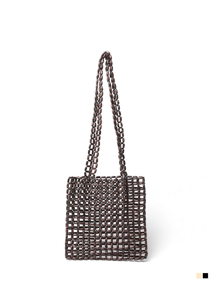 A-1133 Wood square Shoulder bag