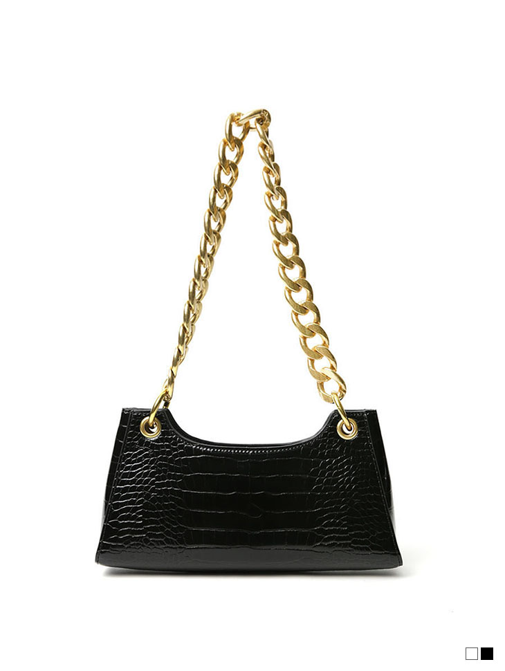 A-1161 Leather Point Chain Bag
