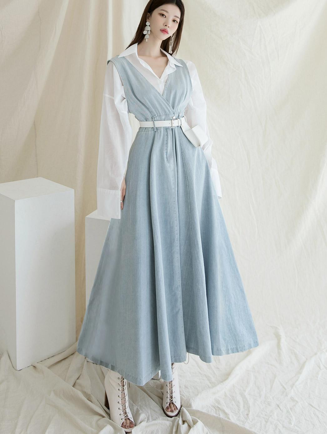 D4049 드맹 Sleeveless Denim Dress(21st REORDER)