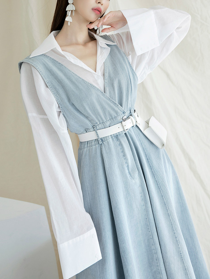 S379 See-through over fit Shirt
