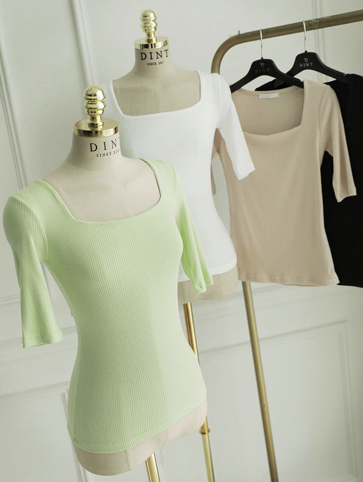 E2244 밀르 square basic Top(36th REORDER)