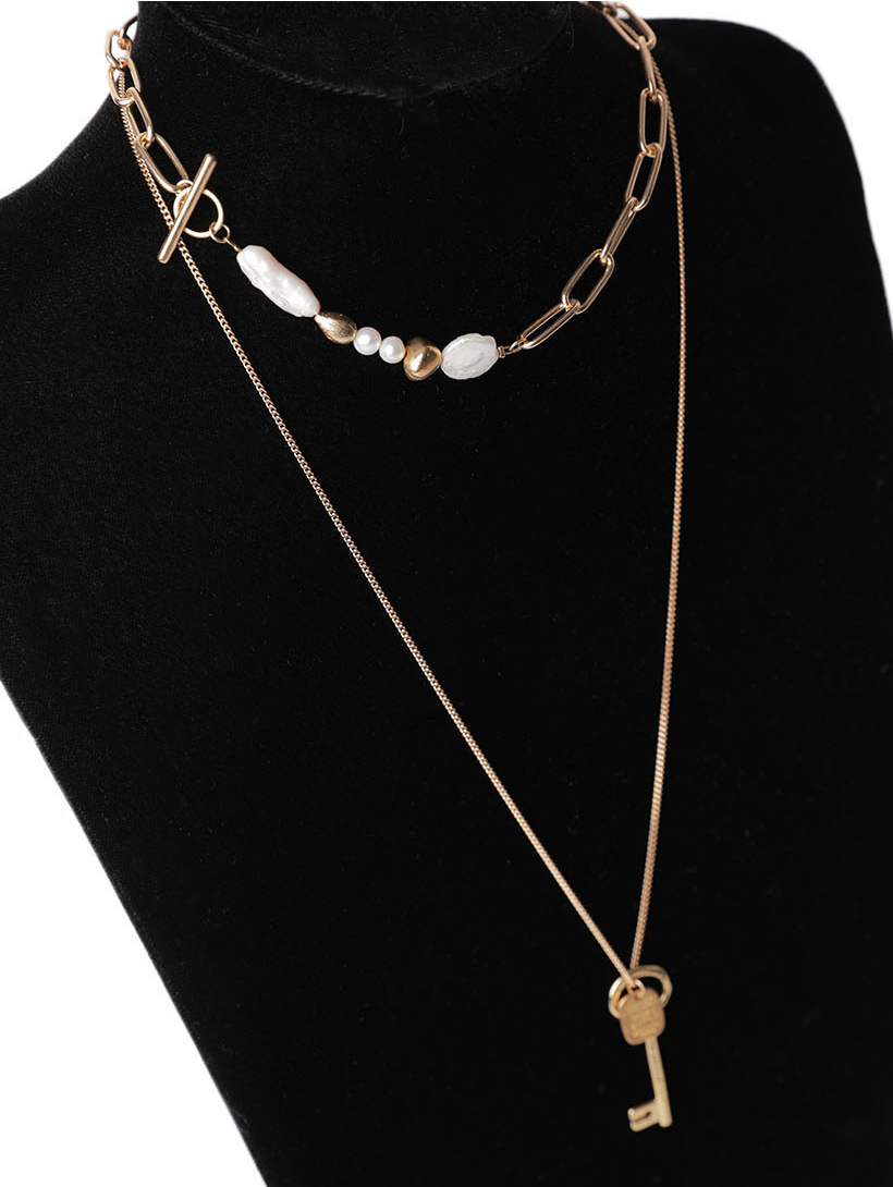 AJ-4743 Necklace *천연 fresh water pearl*(10th REORDER)