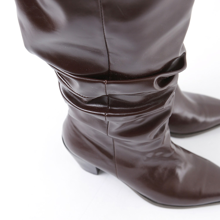 Korean AR-2404 Genoa Edge Long Boots Heel