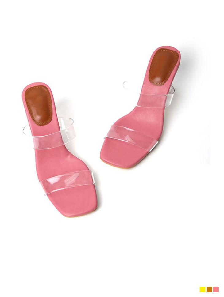 AR-2523 PVC Strap sandals heels