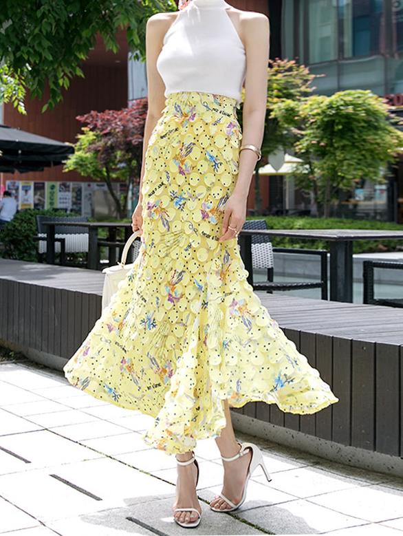 SK9005 Round 라이브 일러스트 skirt(7th REORDER)