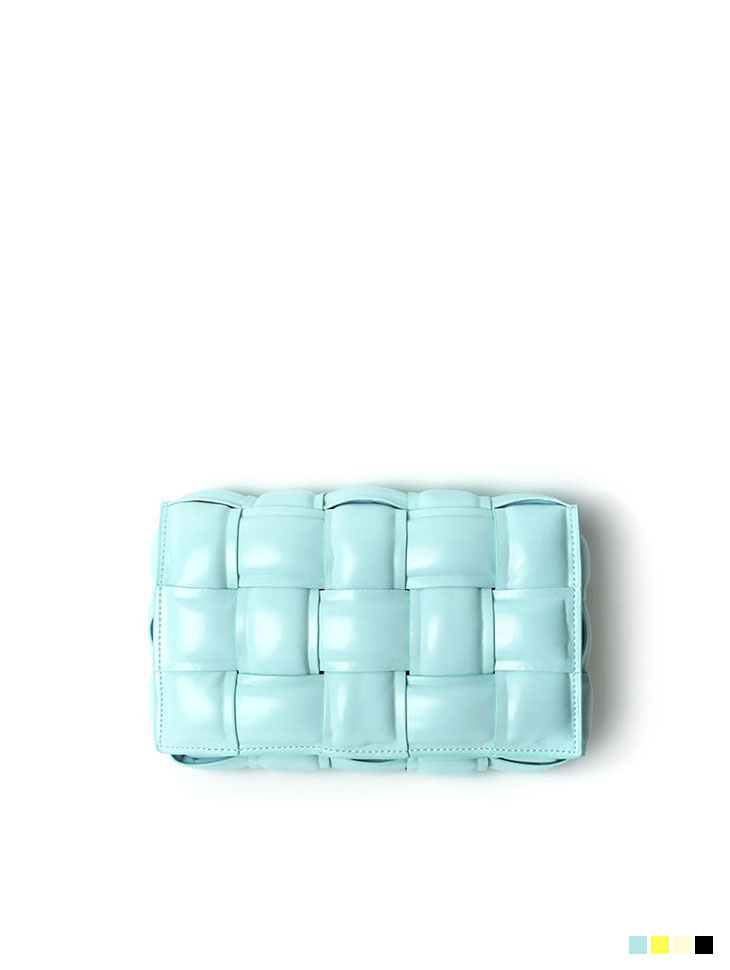 A-1170 square real leather Clutch