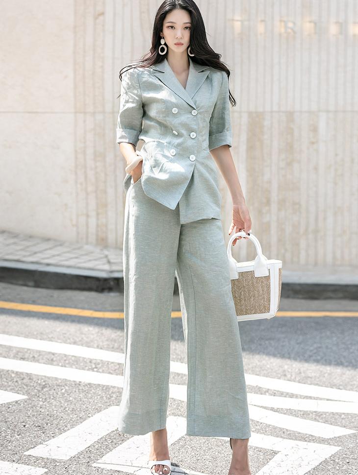 TP1121 루엘라 Linen Half Suit(PANTS Belt set)(16th REORDER)*SET 5%*