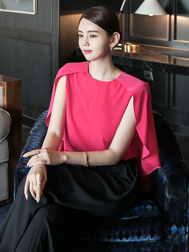 B2595 테란 Sleeveless cape blouse(17th REORDER)