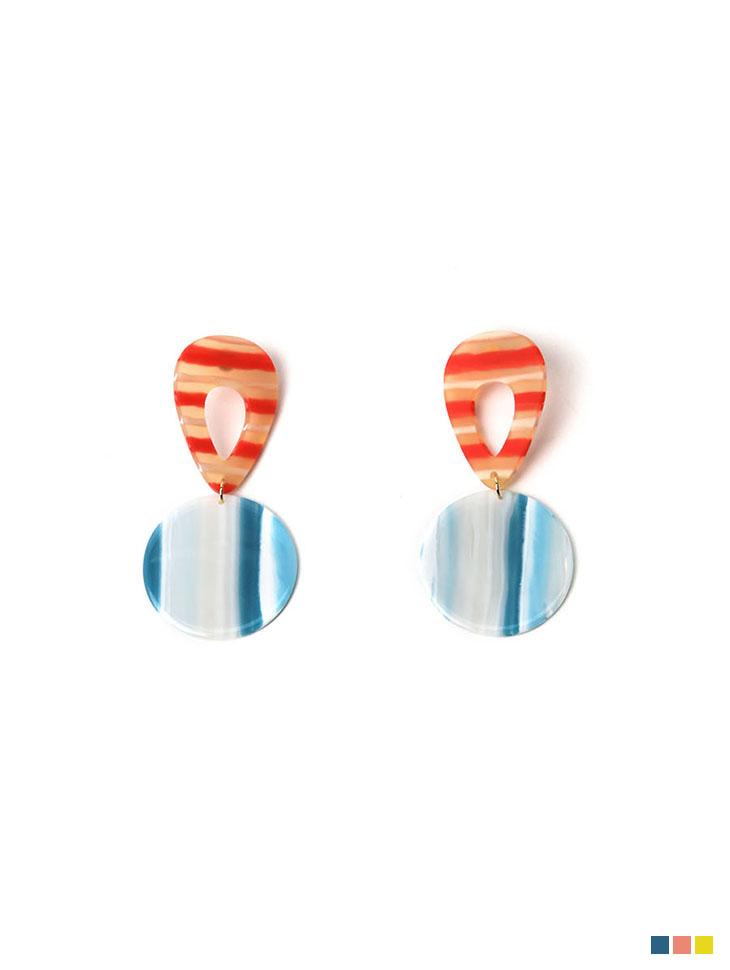 AJ-4760 earring *GREEN+YELLOW*