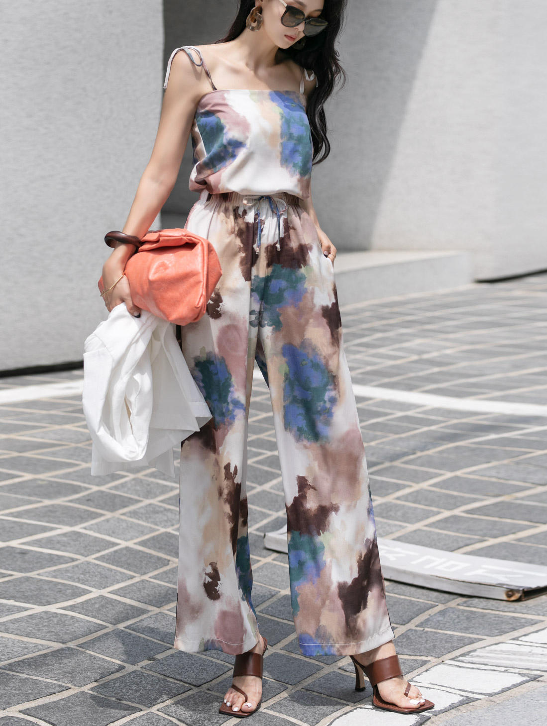 TP1123 엘르니 water Printing Sleeveless two-piece (26th REORDER)*SET 5%*