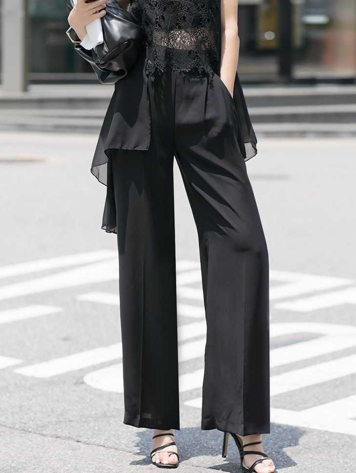 P2273 퍼닌 High Waist Straight pants*L size production*(3rd REORDER)