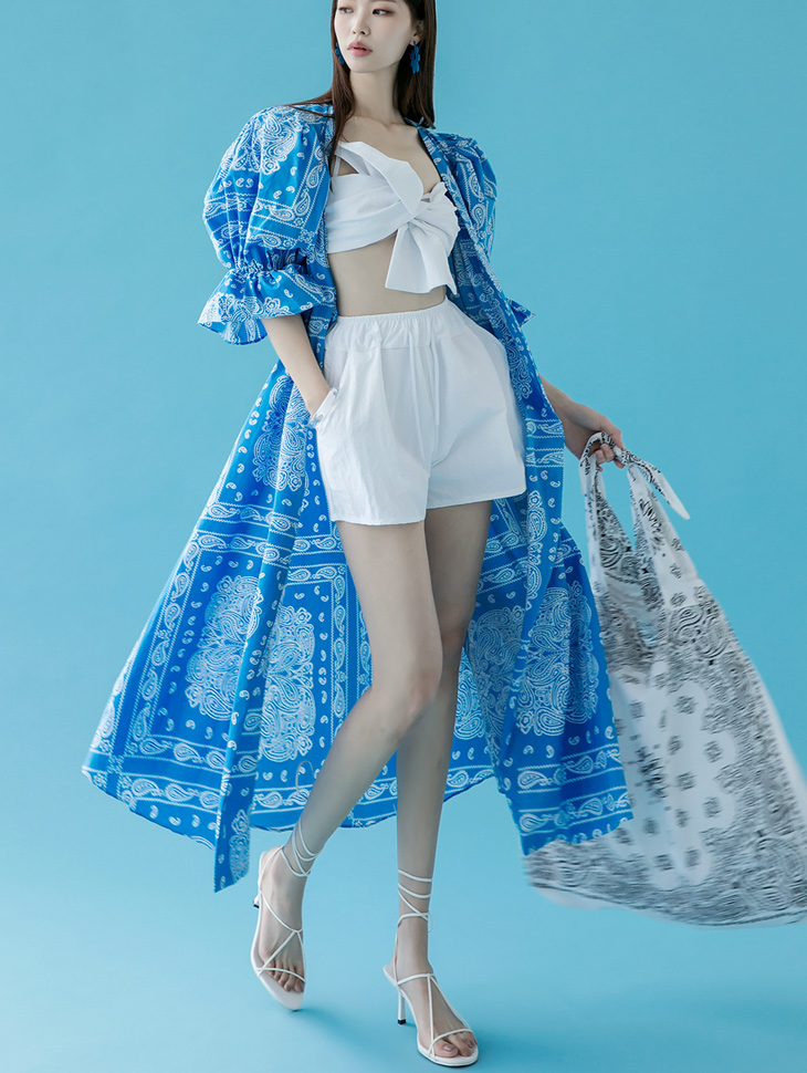 J1011 블렌도 Paisley robe(Belt set)*Can be worn as a dress*(10th REORDER)