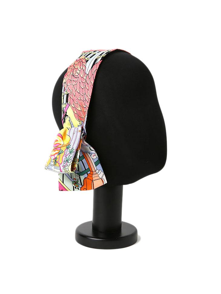 AP-374 Silk Pattern ribbon  hairband