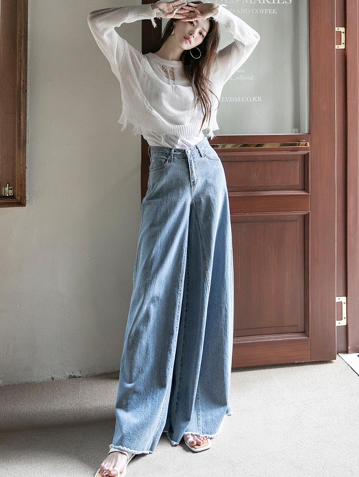 PJ409 wide Denim pants