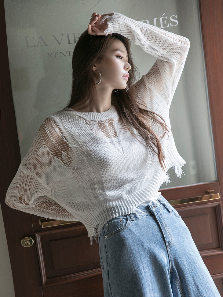 E2285 Vintage Point knit Top(4th REORDER)