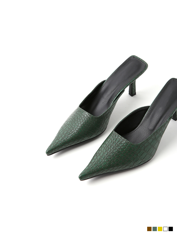 AR-2558 소르트 snake Leather stiletto mule(4th REORDER)