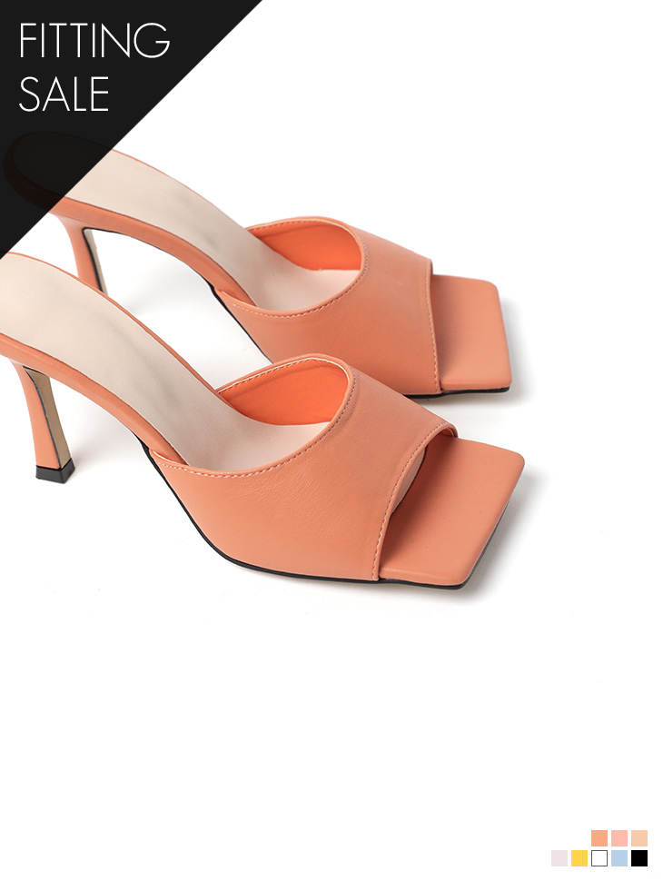 PS1947 square Pastel Sandal high heels *Fitting sale*