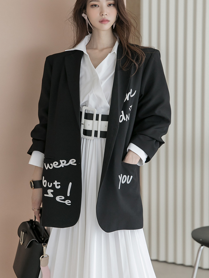 J1030 포슈 Lettering over fit Jacket(10th REORDER)