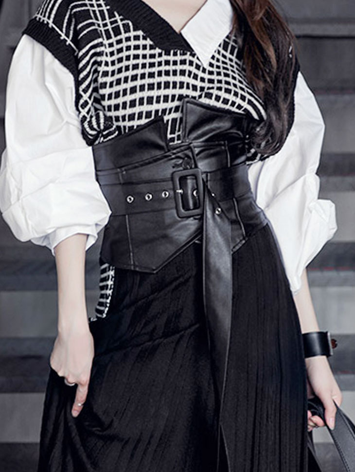 AT-294 Double layered Belt(bustier SET)(204th REORDER)