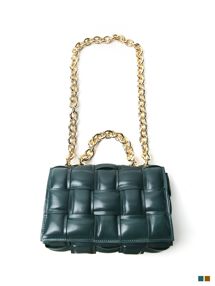 A-1214 Gold Chain real leather Bag