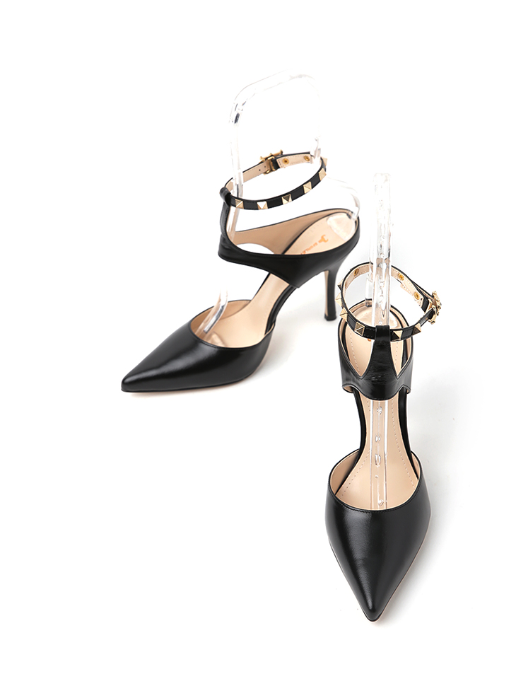 HAR-672 stud stiletto heels*HAND MADE*