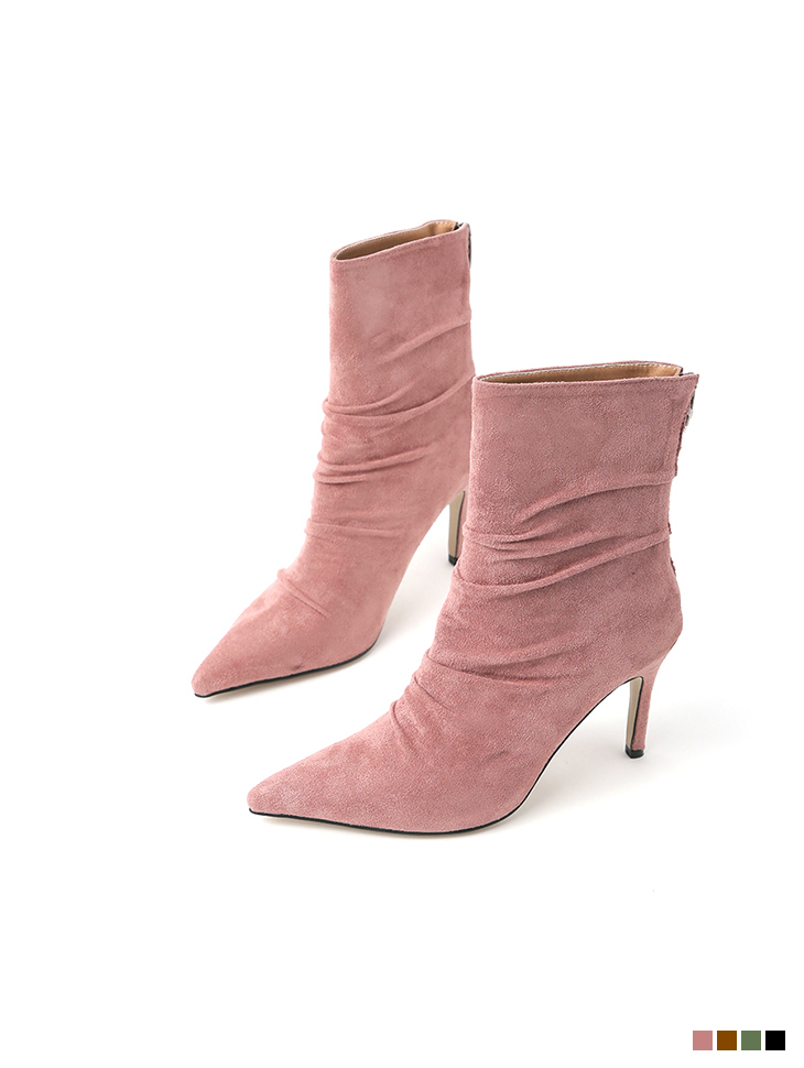 AR-2576 wrinkle Suede ankle boots