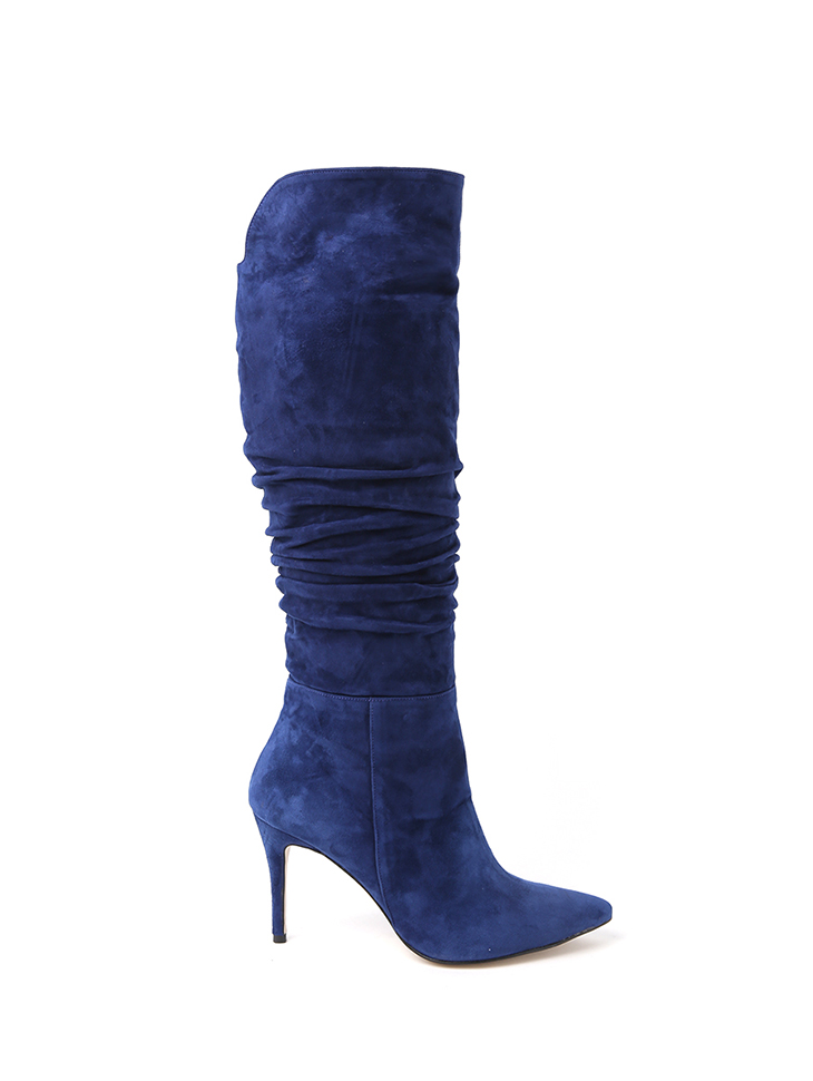 HAR-669 wrinkle Suede Long boots*HAND MADE*