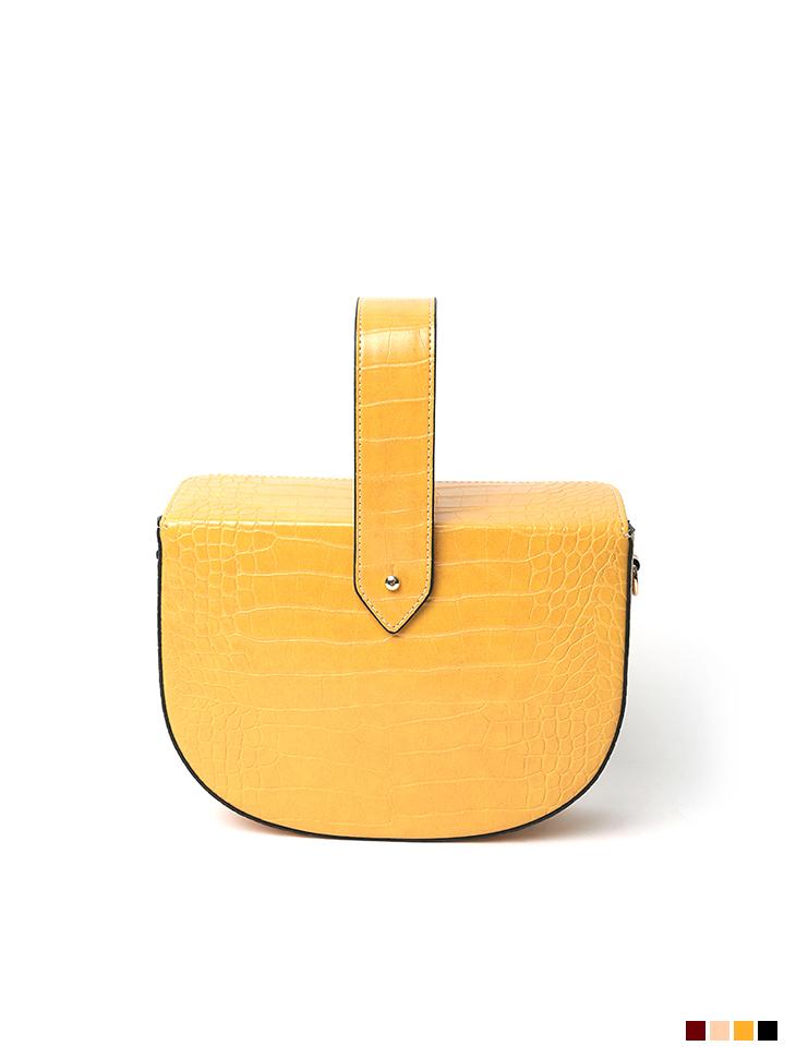 A-1199 Leather Half Moon Bag