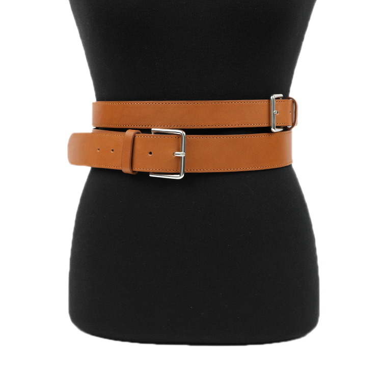 Korean AT-405 Double layered real leather Belt